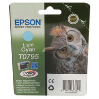 Epson T0795 Light Cyan Ink Cartridge - C13T07954010