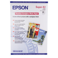 Epson Premium White A3+ Semi-Gloss Photo Paper, 250gsm - 20 Sheets - C13S041328