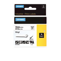 Dymo Vinyl Tape 19mm Black on White - 18445