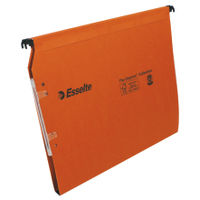 Esselte Orgarex Orange A4 Lateral Files 15mm, Pack of 25 - 21628