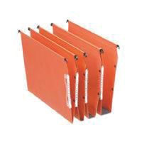 Esselte Orgarex Orange A4 Lateral Files 50mm - Pack of 25 - ES21630