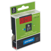 Dymo D1 Standard Label Tape Black on Red - S0720720