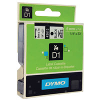 Dymo D1 Standard Label Tape Black on White - 43613 / S0720780