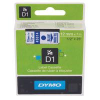 Dymo D1 Standard Label Tape Blue on White - S0720540