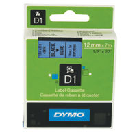 Dymo D1 Standard Label Tape Black on Blue - S0720560