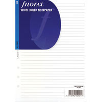 Filofax A5 Refill White Ruled, Pack of 25 Sheets - 343008