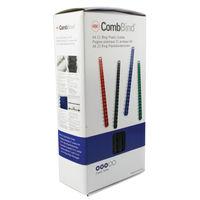GBC A4 Black 12mm Binding Comb, Pack of 100 - GB21657