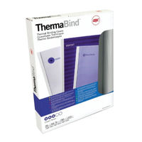GBC Leathergrain 1.5mm Royal Blue Thermal Binding Covers, Pack of 100 - 451003U