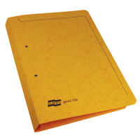 View more details about Europa Yellow A4/Foolscap Spiral Files - Pack of 25 - 3006