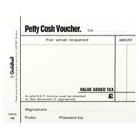 View more details about Guildhall White Petty Cash Voucher Pads 100 Leaves (Pack of 5) - 1569