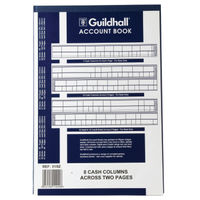 Guildhall 31 Series, 8 Cash Columns Account Book - 075517