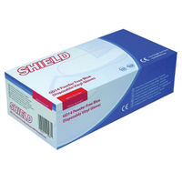 Shield Blue Medium Powder-Free Vinyl Gloves, Pack of 100 - GD14 - M