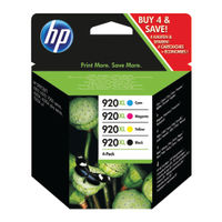 View more details about HP 920XL Black and Colour High Yield Ink Combo Pack | C2N92AE
