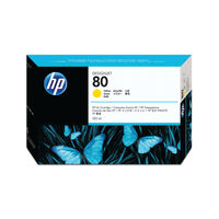 View more details about HP 80 Yellow High Yield Ink Cartridge | C4848A