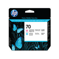 View more details about HP 70 Light Magenta/Light Cyan Printhead (Pack of 2) C9405A