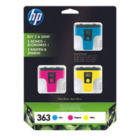 HP 363 Colour Ink Cartridge Tri-Pack - CB333EE