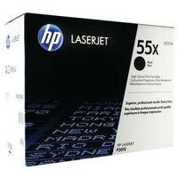 View more details about HP 55X Black High Yield Laserjet Toner Cartridge CE255X
