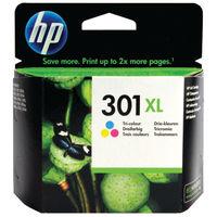 HP 301 XL Tri-Colour Ink Cartridge - High Capacity CH563EE