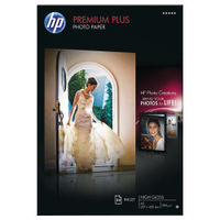 View more details about HP Premium Plus White A3 Glossy Paper, 300gsm - 20 Sheets - CR675A