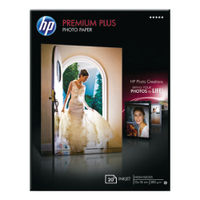 View more details about HP Premium Plus 130 x 180mm White Glossy Paper, 300gsm - 20 Sheets - CR676A