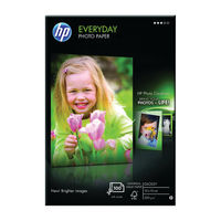View more details about HP Everyday 100 x 150mm White Glossy Paper, 200gsm - 25 Sheets - CR757A