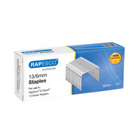 View more details about Rapesco 13/6mm Metal Staples, 13/6 - Pack of 5000 - S13060Z3