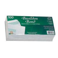 Basildon Bond White DL Window Envelopes 120gsm -  Pack of 100 - JDD80276
