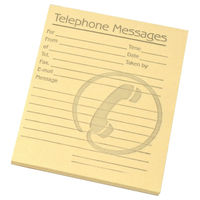 Challenge Yellow Telephone Message Pads,102 x 127mm - Pack of 10 - F71971