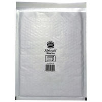 Jiffy Airkraft White Size 5 Mailers, Pack of 50 - JL-5