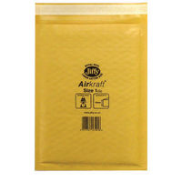 Jiffy AirKraft Gold Size 1 Self Seal Mailers, Pack of 10 – JF79532