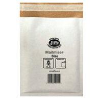 Jiffy White Size 1, Mailmiser Bag - Pack of 10 -JFMM1