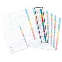 View more details about Concord Index 1-12 A4 White with Multicoloured Mylar Tabs 01301/CS13