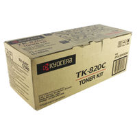 View more details about Kyocera Cyan TK-820C Toner Cartridge (7,000 Page Capacity)