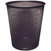 Q-Connect Black 18 Litre Mesh Waste Basket - KF00871