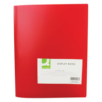 Q-Connect Red 40 Pocket Display Book - KF01258