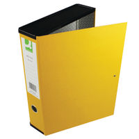 Q-Connect Yellow Foolscap Box File, Pack of 5 - KF01469