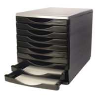 Q-Connect Black and Grey 10 Drawer Tower - KF02254