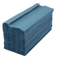 2Work 1-Ply C-Fold Blue Paper Hand Towels, Pack of 2880 - HTB288