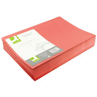 Q-Connect Red Foolscap Square Cut Folders 180gsm, Pack of 100 - KF26028