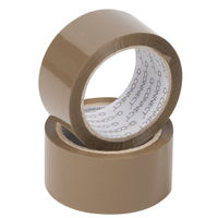 Q-Connect Buff Packing Case Sealing Tape, 50mm x 66m - Pack of 6 Rolls - KF27010