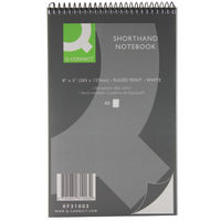 Q-Connect Feint Ruled Shorthand Notebook 160 Pages 203x127mm (Pack of 20) KF3100