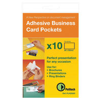 Pelltech 95 x 60mm Top Opening Business Card Pockets, Pack of 100 - PLH10141