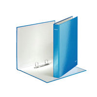 Leitz WOW Blue A4 Maxi 2 D-Ring Binders 25mm, Pack of 10 - 42410036
