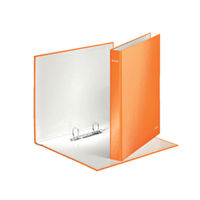 Leitz WOW Orange A4 Maxi 2 D-Ring Binders 25mm, Pack of 10 - 42410044