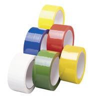 Green Polypropylene Parcel Tape, 50mm x 66m  - Pack of 6 - 62050665
