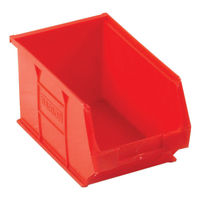 View more details about Barton Tc3 Small Parts Container Semi-Open Front Red 4.6L 150X240X125mm (Pack of 10) 010032