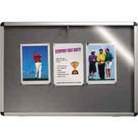 View more details about Nobo Lockable 1265 x 965mm Visual Insert Board Blue - 31333501