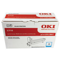 View more details about Oki C710 Cyan Image Drum (15,000 Page Capacity) 43913807