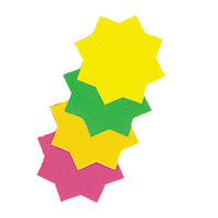 Bright Ideas Assorted Fluorescent Ticket Board Stars, 102mm - Pack of 30 – TB4