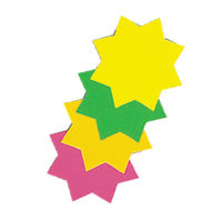 Bright Ideas Assorted Fluorescent Ticket Board Stars, 152mm - Pack of 12 - TB6
